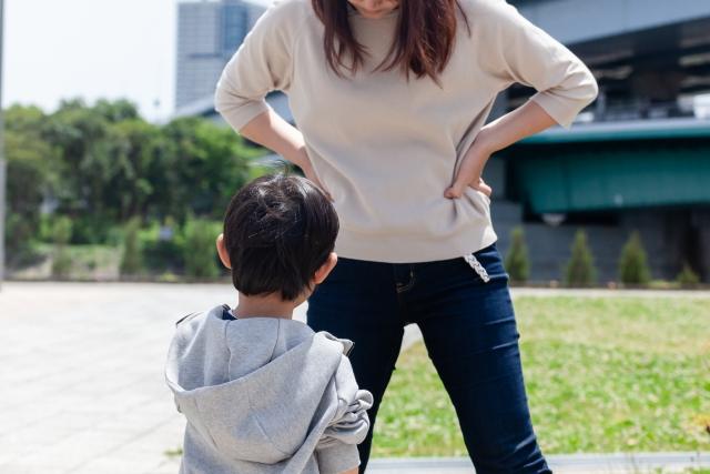 母と子の対話で教育。